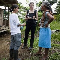 Angelina Jolie visits Colombian Refugees in Ecuador  also a video from her trip: http://youtu.be/OfZ76le_Pes