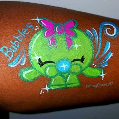 Shopkins face painting by FunnyCheeksTJ Dallas Face Painter || #EFPUpaints #EFPU…