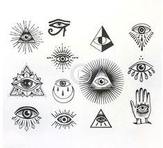 61 Ideen z. Illuminati Eye Tattoo-Symbole tattoo designs ideas männer männer ideen old school quotes sketches Illuminati Symbols, Illuminati Drawing, Mini Tattoos, Body Art Tattoos, Small Tattoos, Small Tattoo Symbols, Finger Tattoos, Ship Tattoos, Tattoo Ideas