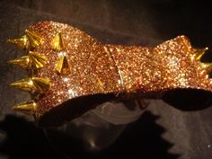 LIMITED EDITION  Burgundy Autumn  Gold Spikes by LuckyYogi on Etsy, $49.50