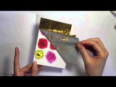 cardmaking video from wings of a butterfly ... great tips ... how to use gold foil ... layered die cut sentiment ...