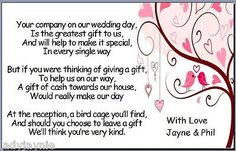 Pack Of 50 Wedding Poem Cards Asking Guests for Money - Pink Love Birds Design in Cards & Invitations | eBay