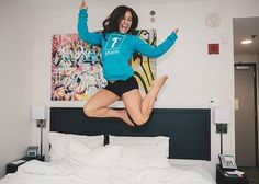 1st Phorm athlete Alyse Scaffidi seems to be a little excited for the gear release! Alyse here is seen here wearing the NEW Generation 1P Eco Sweatshirt which is also available in Black too. Click the photo to check them out!! #nextlevelshit #nextlevelshit