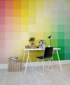 rengarenk ofis duvar renkleri fikirleri ile en güzel ofis dekorasyonu örnekleri