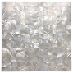 White Seamless Mother of Pearl Tile Shell Mosaic For Bathroom/Kitchen Backsplashes 12 inch x 12 Sheets)