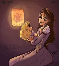 Rapunzel and her mother This is precious.
