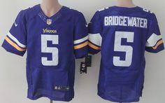 Nike Minnesota Vikings #5 Teddy Bridgewater 2013 Purple Elite Jersey