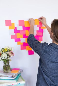 Family Heart Activity for Valentines Day - when you do something nice for another family member, write in the color of post-it assigned to you.