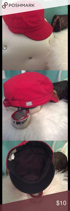 Red Hat by ⭐️L.e.i. ⭐️ 🌺Red Hat by L.e.i with black inside and adjustable buckle. Excellent Condition. 100% cotton. $10   🔶 Please ask all your questions before you purchase. I'm happy😊 to help  🔶 Sorry, no trades or hold. 🔶 Please, no lowball offers. 🔶 Please use the Offer Button 🔶 Bundle for your best prices 🔶 Ships next day, if possible 🎀 Thank you for visiting my closet 🎀 ⭐️L.e.i. ⭐️ Accessories Hats