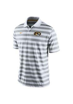 Missouri (Mizzou) Tigers Nike Polo Shirt - Mens White Preseason Short Sleeve Polo http://www.rallyhouse.com/shop/missouri-tigers-nike-12510829?utm_source=pinterest&utm_medium=social&utm_campaign=Pinterest-MizzouTigers $65.00
