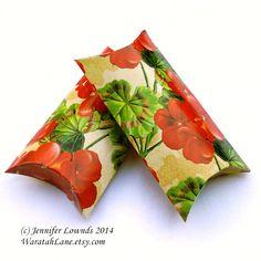 Printable Pillow Box INSTANT DOWNLOAD printable by WaratahLane, $4.00