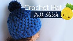 Gradient hat with puff stitch - Crochet / Gorrito en punto piña