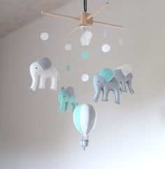 nursery mobile /baby mobile/ elephant mobile/ air by SpringHop