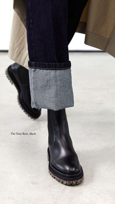 Crafted from smooth and supple leather with elasticated side panels, Tony Boot is designed with all weather days in mind. With the perfect balance of strength and refinement and made to wear rain, snow or shine, we're reaching for Tony to ground our every day city looks. Looking for black boots for Fall? We've got you covered! Discover the Fall Winter collection form Dear Frances! Minimal black boots for capsule wardrobes. #dearfrances Luxury Shoes, Winter Wardrobe, Black Ankle Boots, Minimalist Fashion, Designer Shoes, Leather Boots, Chelsea Boots, What To Wear, Winter Outfits