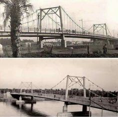 """جسر السمارة  اول جسر معلق في العراق صممه المعماري البريطاني """"وليام اري"""" ، تم افتتاح الجسر بتاريخ 8/2/1958 و الغريب في الامر ان الجسر تدمر كليا و اختفى نتيجة الحرب الهوجاء في تاريخ 8/2/1991 اي في نفس اليوم و الشهر الذي تم إنشائه فيه !"""