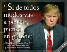 Donald John Trump, multimillonario ejecutivo y empresario estadounidense.