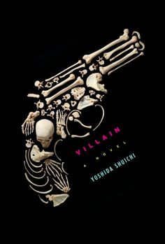 this book cover was very interesting because of the way the bones form the shape of a gun. The way who every bone fits into a certain place to fit the exact out line of a gun really mimics the shape perfectly. plus the fact that the name of the book is called villains could indicate there's a great evil or injustice taking place that could cause a lot of death.