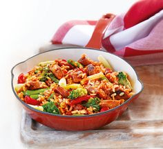 Healthy Recipes: Thousands of perfect meals from Healthy Food Guide Sausage Stir Fry, Veggie Sausage, Fried Vegetables, Veggies, Healthy Stir Fry, Asian Pork, Vegetarian Recipes, Healthy Recipes, Stir Fry Recipes