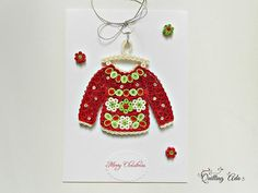 Christmas sweater-paper sweater-quilled Christmas