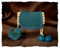 MH$P Ad: Green Saddle Pad, Bell Boots And Fly Bonnet
