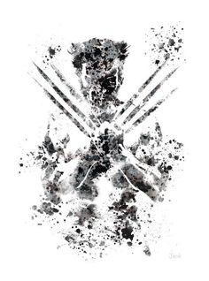 Wolverine ART PRINT illustration X-Men Marvel Home by SubjectArt