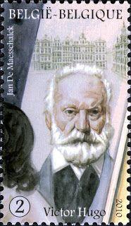 Bélgica 2010 -  Victor Hugo, poeta, dramaturgo y novelista romántico francés