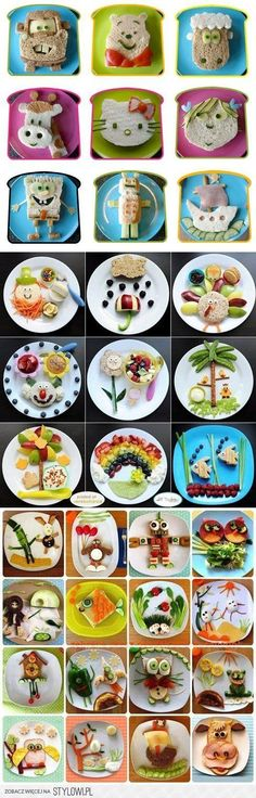 Kids Meals Lassen Sie nichts anbrennen und wecken Sie bei Ihren Kids die Freude an der gesunden Ernährung! - Because your kids are always in the pursuit of happiness. And hey, they might learn from these too (but don't tell them that)! Toddler Meals, Kids Meals, Fruits Decoration, Deco Fruit, Food Art For Kids, School Snacks, School Lunch, Food Crafts, Cute Food