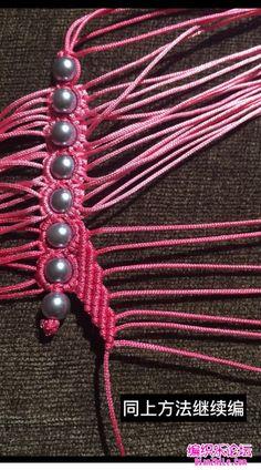 点击查看原图 Macrame Knots, Micro Macrame, Macrame Tutorial, Bracelet Tutorial, Beaded Necklace Patterns, Bobby Pins, Berries, Hair Accessories, Bracelets