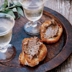 Chicken-Liver Crostini Recipe - Marco Canora | Food & Wine Substitute Marsala for the Cognac