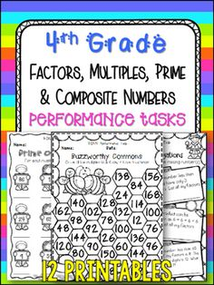 Need to challenge your students? Want feedback on how your class is mastering the material you teach? USE MORE THAN JUST A REGULAR MULTIPLE CHOICE ASSESSMENT. Performance tasks are what you need! This purchase contains 12 performance tasks for the following standard: 4.OA.4 - Find all factor pairs for a whole number in the range 1100.