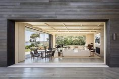A master of his genre, Scott Mitchell is celebrated for his warm approach to connecting the built and natural environment. Sought after for their minimalist, material-driven aesthetic, Mitchell's houses are studies in space, materiality, and light. Emphasizing an elegant spatial order, his projects respond to the natur Nobu Malibu, Scott Mitchell, Paradise Cove, Cedar Siding, Country Barns, Felder, Contemporary Architecture, Contemporary Beach House, Australian Architecture