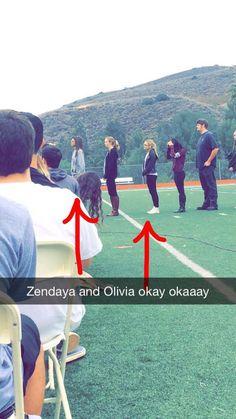 Zendaya and Olivia Holt at graduation practice 6/11/15