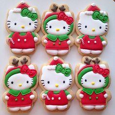 Hello Kitty Christmas Cookies #hellokittychristmas #christmascookies