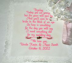 Super Cute Flower Girl Wedding Poem Bobbin by CanyonEmbroidery, $36.00