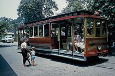 knotts berry farm in the 1960s | Trolley at Knott's Berry Farm, 1960 | Flickr - Photo Sharing!