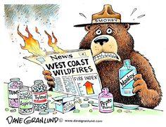 WEST COAST FIRES | Aug/18/15 Dave Granlund - Politicalcartoons.com - West Coast Fires -