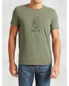 John Varvatos | Green Peace Rocks Graphic Tee for Men | Lyst