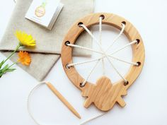 Wooden lacing toy Spider and his spiderweb Fine Motor Skills Learning toy Educational Wooden Toy Montessori Wood Toys for Kids by WoodenCaterpillar on Etsy