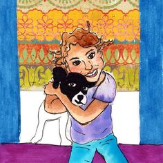Puppy Portrait Dog Gift Dog Lover Puppy Mom Kid by ChunkedUpFunk