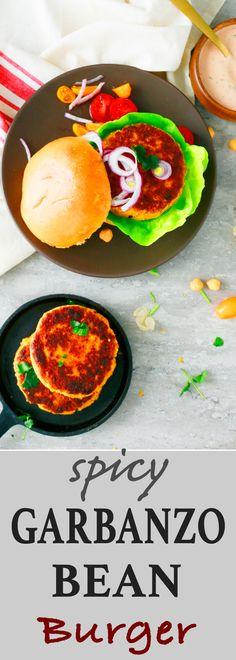 easy veggie burger recipe | garbanzo bean burger| baked garbanzo bean burger | spicy chickpea burger | garbanzo bean burger recipe | best chickpea burger recipe | best homemade veggie burger | chickpea burger recipe | meatless monday recipe | easy weeknight dinner recipes