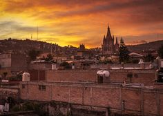 Sunset over San Miguel de Allende - Mexico Photography by Nick Laborde