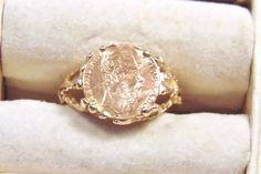 Vintage 14K Yellow Gold Maximilian Coin Ring by EclairJewelry on Etsy