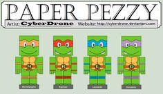 Paper Pezzy - Teenage Mutant Ninja Turtles by CyberDrone.deviantart.com on @deviantART