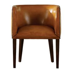 Boston Design Center Berkeley House Oscar Leather Barrel Chair Furniture Side Chairs Leather Refined