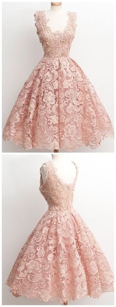 Awesome Designer Wedding Dresses vintage style homecoming dress, short pink homecoming dress, lace homecoming dre... Check more at http://24shopme.ga/fashion/designer-wedding-dresses-vintage-style-homecoming-dress-short-pink-homecoming-dress-lace-homecoming-dre/