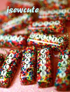 Sprinkles Candy Necklace The Original Personalized by isewcute, $20.00