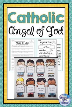 Catholic Religion Prayer to my Guardian Angel Catholic Children, Catholic Religious Education, Catholic Beliefs, Catholic Prayers, Guardian Angel Prayer Catholic, Angel Prayers, Prayer Crafts, Jesus Coloring Pages, Preschool Crafts