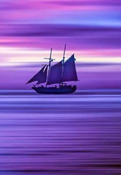 Sailing on a purple dream. Purple Rain, Purple Love, Purple Stuff, Purple Lilac, All Things Purple, Shades Of Purple, Deep Purple, Purple Sunset, Purple Aesthetic