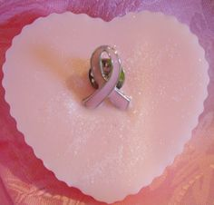 Pink & White Heart Shaped Iridescent Breast by NorasSoapScents, $6.00