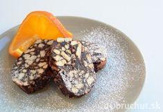 Čokoládová saláma s mandľami